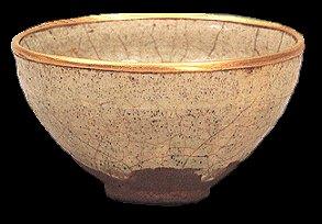Céramique Temmoku blanc ( Epoque Muromachi )